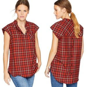 Pendleton Jane wool plaid popover shirt Medium NWT